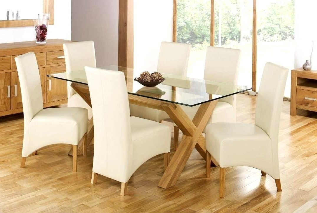 Current Smart Oak Glass Dining Tables Ideas Gorgeous Design For Oak Dinning In Glass Top Oak Dining Tables (View 7 of 20)