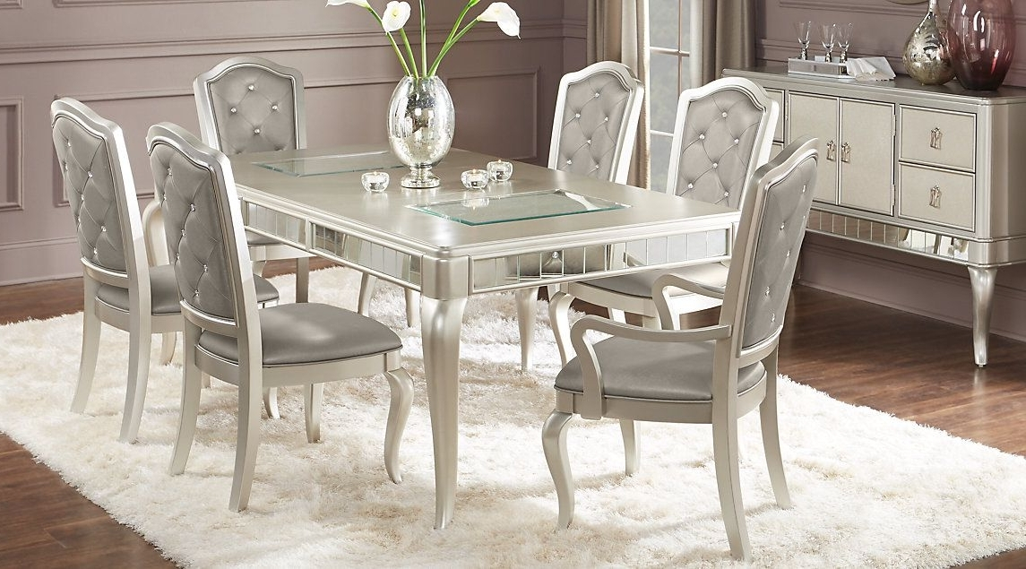 Current Sofia Vergara Paris Champagne 5 Pc Dining Room (View 10 of 20)