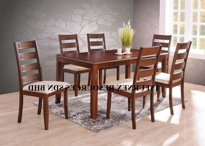 Current Solid Rubberwood,dining Set (1+6),dining Table,dining Chair – Buy With Regard To Wooden Dining Tables And 6 Chairs (View 4 of 20)