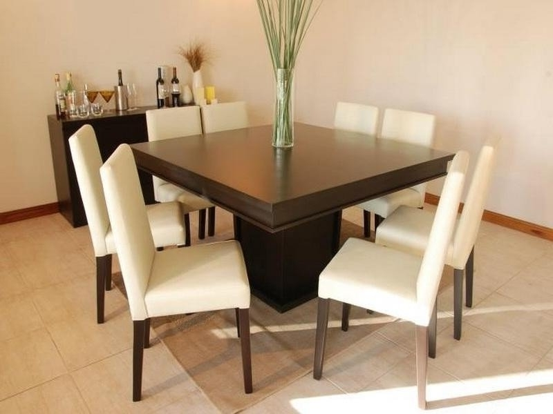 Current Square 8 Seater Dining Table – Foter Inside Black 8 Seater Dining Tables (View 15 of 20)