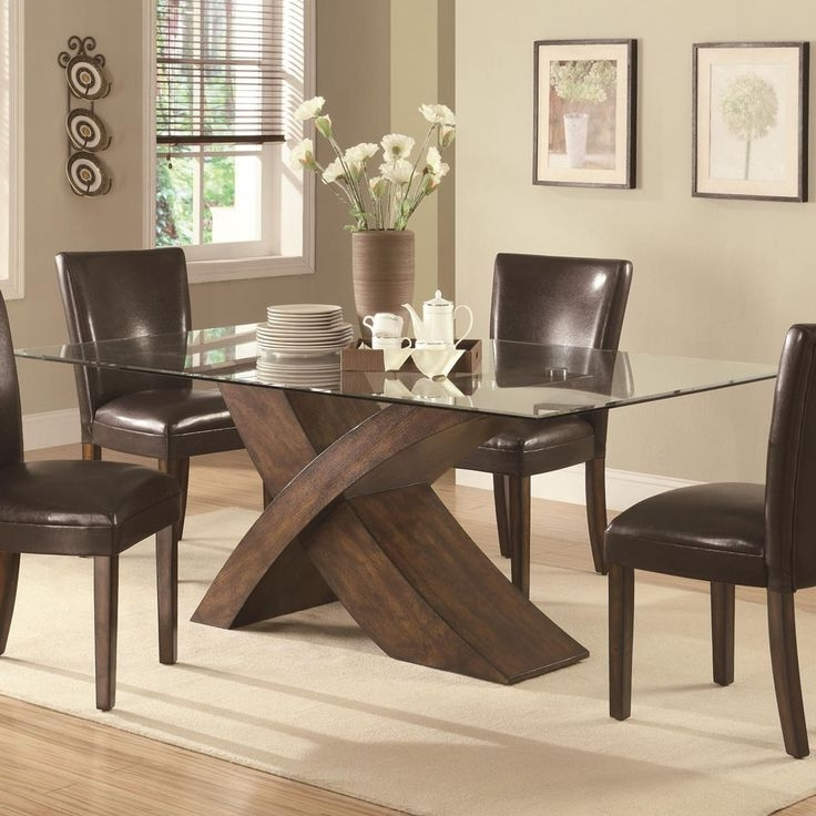 Current Stylish Glass Top Dining Table – Blogbeen Intended For Glass Top Oak Dining Tables (View 8 of 20)