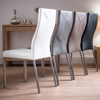 Current Take A Look At Our New Range Of Stylish, Contemporary Real Leather Intended For Real Leather Dining Chairs (View 2 of 20)