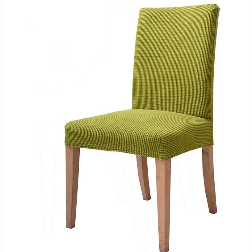 Current Thick Knitted Fabric Universal Spandex Chair Cover Dining Chair With Fabric Covered Dining Chairs (View 4 of 20)