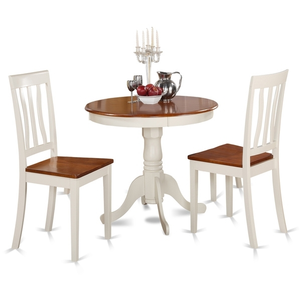 Current Two Chair Dining Tables With Regard To Buttermilk And Cherry Kitchen Table And Two Chair Dining Set (View 20 of 20)