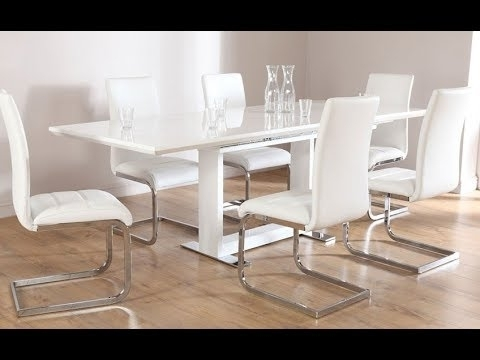 Current White Dining Table – White Gloss Dining Table – Marble Dining Table For Gloss White Dining Tables (View 6 of 20)