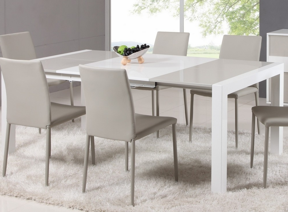 Current White Expandable Dining Table — Home Design Ideas : Make An Inside White Square Extending Dining Tables (View 4 of 20)