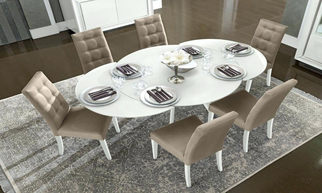 Current White Round Extending Dining Table – Emilytocco With Round White Extendable Dining Tables (View 8 of 20)