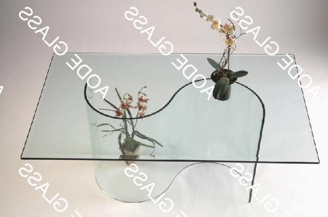 Curved Glass Dining Tables Throughout Most Current China Curved Glass Dining Table (006) – China Table, Glass Table (View 5 of 20)