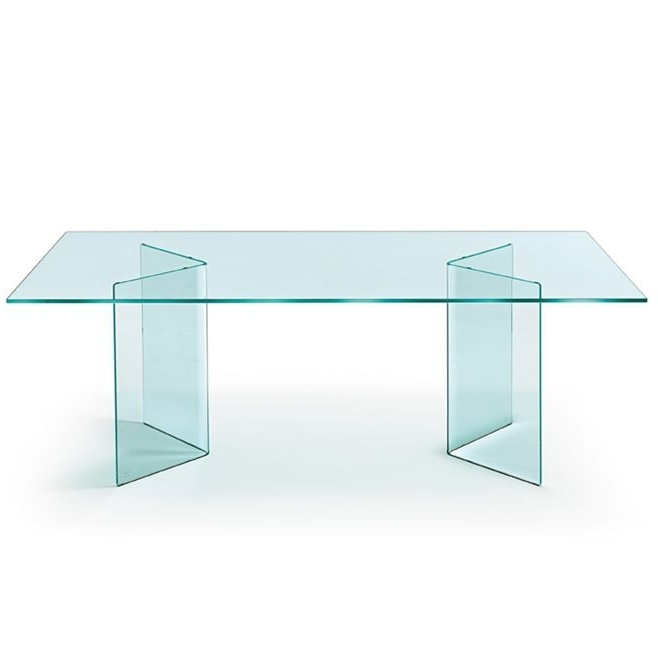 Curved Glass Dining Tables With Regard To Famous Contemporary Dining Table / Curved Glass / Rectangular / Round (View 6 of 20)
