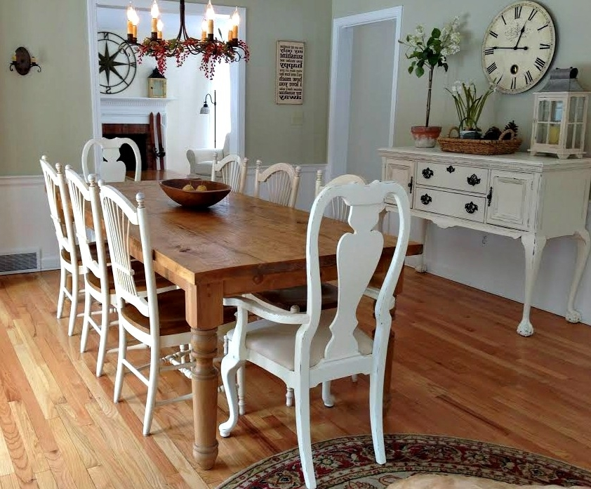 Custom, Hand Made Farm Tables And For Farm Dining Tables (View 7 of 20)