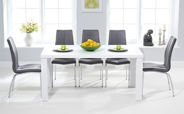 Cute Grey And White Dining Table (View 3 of 20)