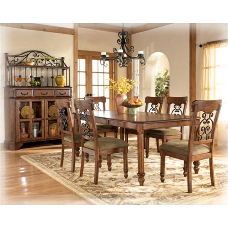 D429 35 Ashley Furniture Wyatt Dining Room Rectangular Ext Table Inside Most Recent Wyatt Dining Tables (View 14 of 20)