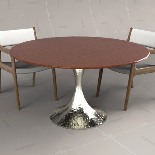 Dakota Circular Table 3D Model – Formfonts 3D Models & Textures Within Famous Chichester Dining Tables (View 9 of 20)