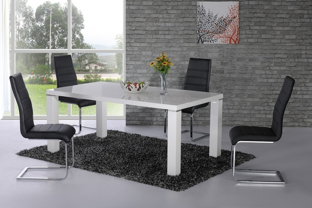 Danata White High Gloss Designer Dining Table – £0.00 : Nu Trend In Newest White High Gloss Dining Tables (Gallery 18 of 20)
