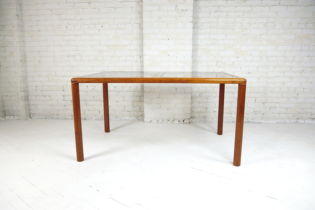 Danish Style Dining Tables Intended For Famous Vintage Danish Style Dining Table (Teak And Glass) – Omasa Projects (View 5 of 20)