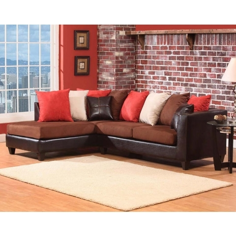 Dark Brown Chocoloate Couch, 2 Pc (View 3 of 15)