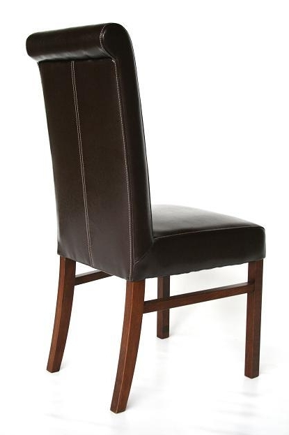 Dark Brown Leather Dining Chairs Regarding Latest Dark Oak Dining Tables Chairs For Pubs, Restaurants & Bars (View 8 of 20)