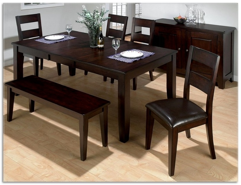 Dark Brown Wood Dining Tables With Most Recent Lambert Dark Brown Wood Modern Dining Table (View 6 of 20)