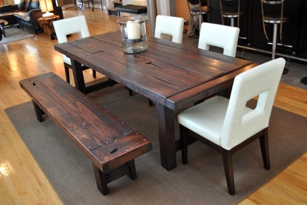 Dark Solid Wood Dining Tables With Regard To Latest Favorable Rectangular Reclaimed Wood Dining Table Modern Ideas Ating (View 10 of 20)