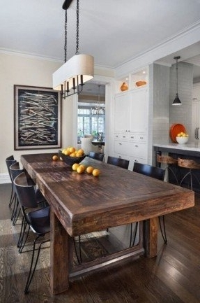 Dark Solid Wood Dining Tables With Regard To Popular Solid Wood Dining Table – Visualizeus (View 11 of 20)