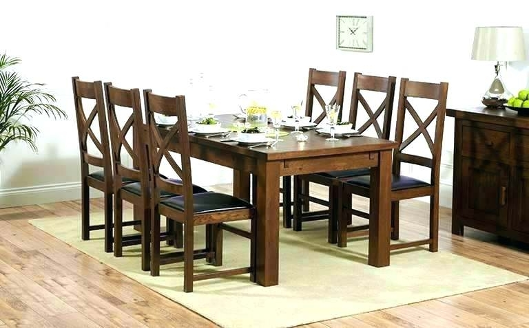 Dark Wood Dining Room Furniture Throughout Best And Newest Dark Wood Dining Room Furniture – Wiseme (View 4 of 20)