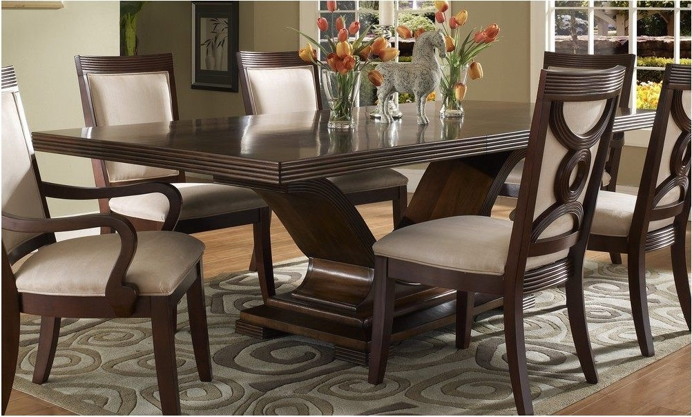 Dark Wood Dining Room Furniture With Regard To Current Extraordinary Dark Wood Dining Room Set Wonderful With Photo Of Dark (View 7 of 20)