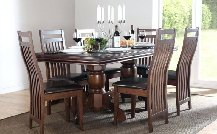 Dark Wood Dining Room Furniture With Regard To Widely Used Dark Wood Formal Dining Room Sets Tables And Chairs Set Charming (View 20 of 20)