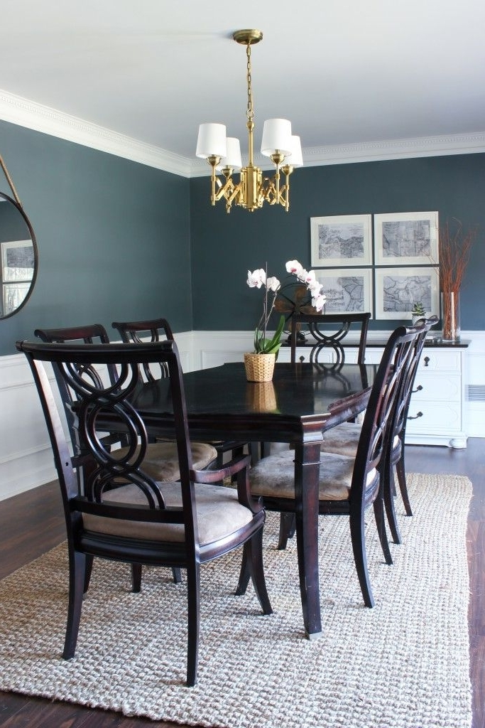 Dark Wood Dining Room Furniture Within 2018  (View 7 of 20)