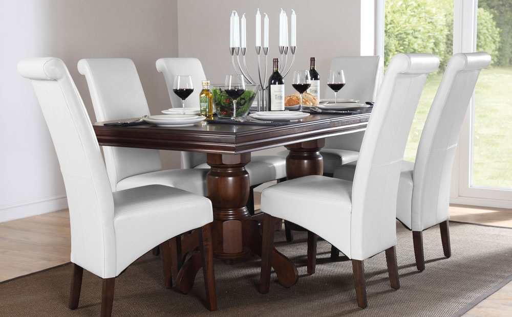 Dark Wood Dining Tables 6 Chairs Intended For Latest  (View 3 of 20)