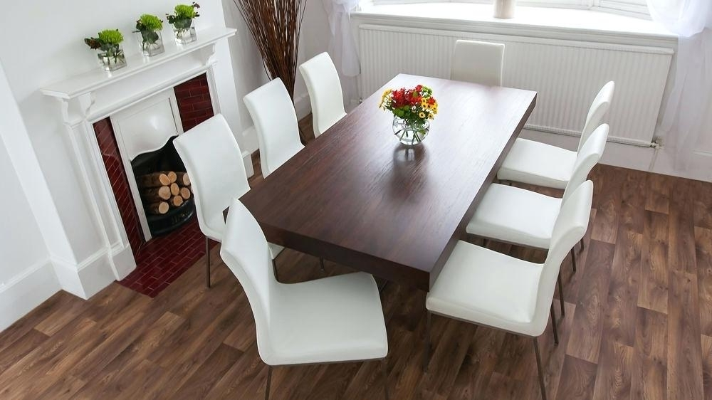Dark Wood Dining Tables And 6 Chairs With Most Current Dark Wood Dining Table With Leather Chairs – Modern Computer Desk (View 6 of 20)
