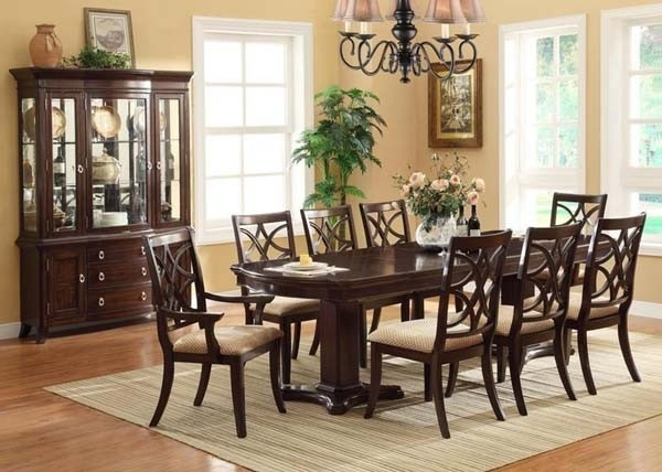 Dark Wood Dining Tables And Chairs Regarding Most Up To Date  (View 8 of 20)