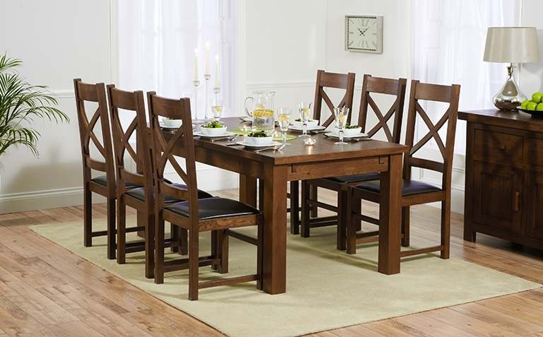 Dark Wood Dining Tables And Chairs With Most Recent Dark Wood Dining Table Sets (View 10 of 20)