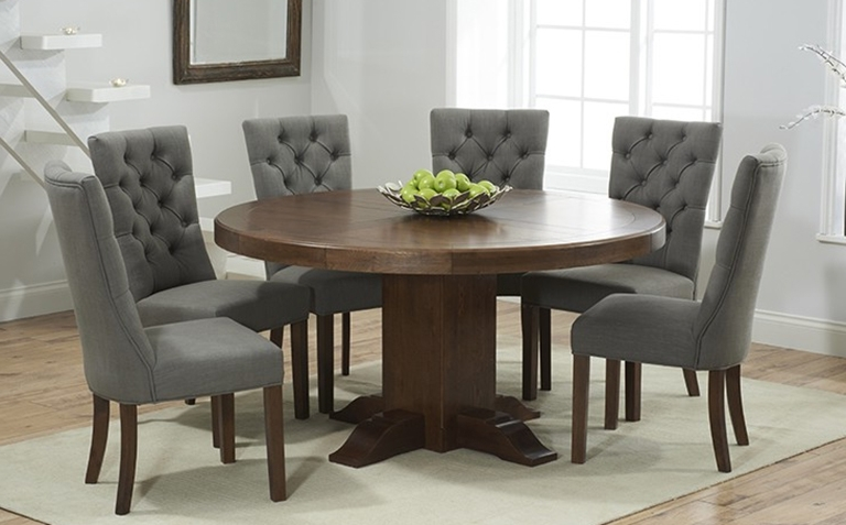 Dark Wood Dining Tables And Chairs Within Preferred Dark Wood Dining Table Sets (View 11 of 20)