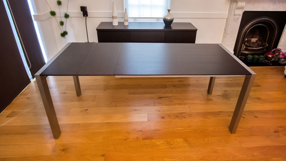 Dark Wood Extending Dining Tables For Popular Wenge Dark Wood Extending Dining Table (View 5 of 20)