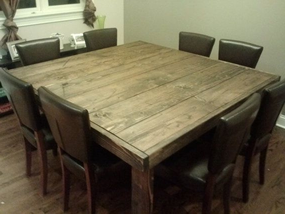 Dark Wood Square Dining Tables Inside Well Known Impressive Lovable Reclaimed Wood Square Dining Table 17 Best Ideas (View 4 of 20)