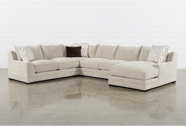 Davis 4 Piece Sectional W/laf Chaise, Beige, Sofas Intended For Trendy Aspen 2 Piece Sleeper Sectionals With Laf Chaise (View 8 of 15)