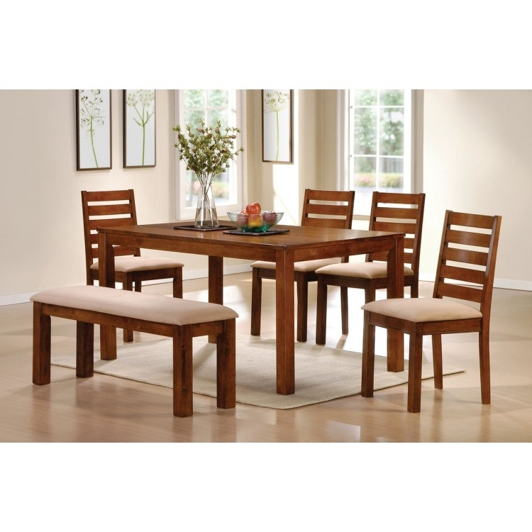 Dawson Dining Tables Within Well Known Dawson Walnut Finish 6Pc Dining Table Set (View 18 of 20)