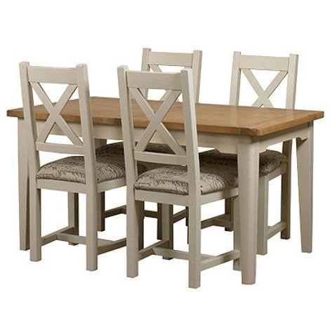 Debenhams Oak And Painted 'wadebridge' Small Extending Table And 4 With Regard To Most Recent Small Extending Dining Tables And 4 Chairs (Gallery 20 of 20)