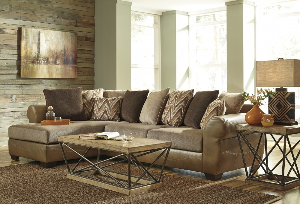 Declain – Sand 2 Pc Raf Chaise Sectional (View 8 of 15)
