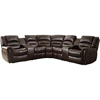 Declan 3 Piece Power Reclining Sectionals With Left Facing Console Loveseat With Favorite Amazon: Homelegance Amite 6 Piece Power Reclining Sectional Sofa (View 6 of 15)