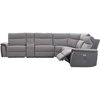 Declan 3 Piece Power Reclining Sectionals With Left Facing Console Loveseat Within Widely Used Amazon: Homelegance Amite 6 Piece Power Reclining Sectional Sofa (View 7 of 15)