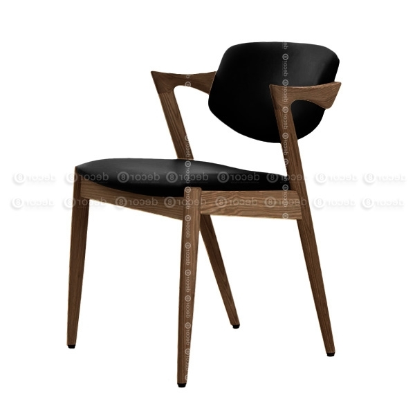 Decor8 Modern Furniture Kai Oak Walnut Dining Chair – Solid Wood Intended For Widely Used Oak Leather Dining Chairs (Gallery 11 of 20)