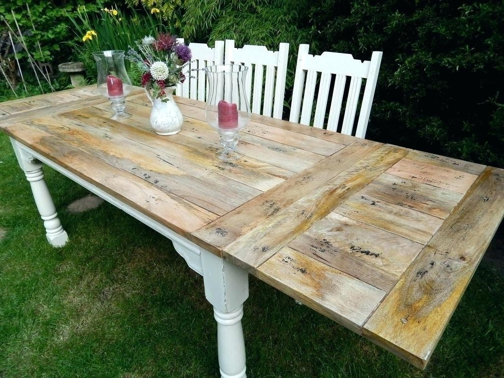 Decoration: 8 Foot Dining Table Regarding Trendy Shabby Chic Extendable Dining Tables (Gallery 14 of 20)