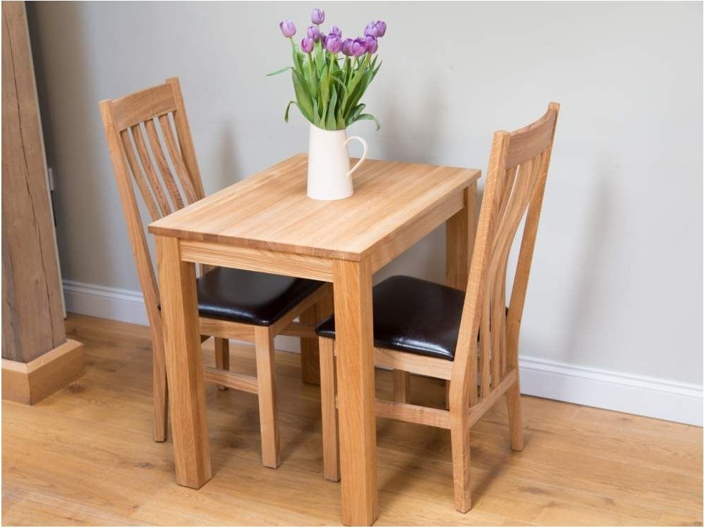 Delightful Small Dining Table Sets 2 Seater Dining Table Chairs Intended For Well Known Compact Dining Tables And Chairs (View 6 of 20)