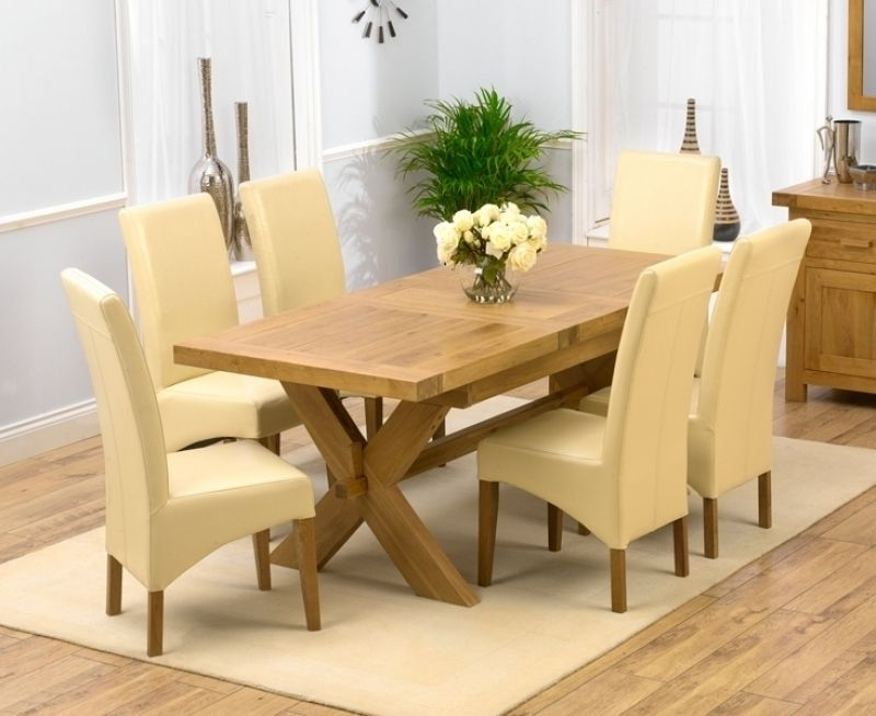 Design Chunky Solid Oak Dining Table Wood Rustic Large Oval In Popular Extending Solid Oak Dining Tables (Gallery 11 of 20)
