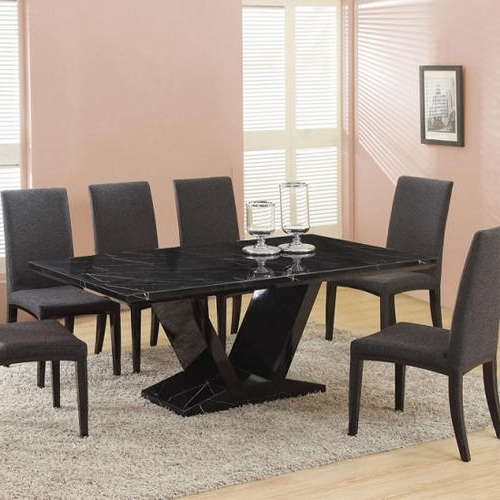 Diamond Black Stone Dining Table, Rs 15000 /piece, Diamond Throughout Recent Stone Dining Tables (View 3 of 20)