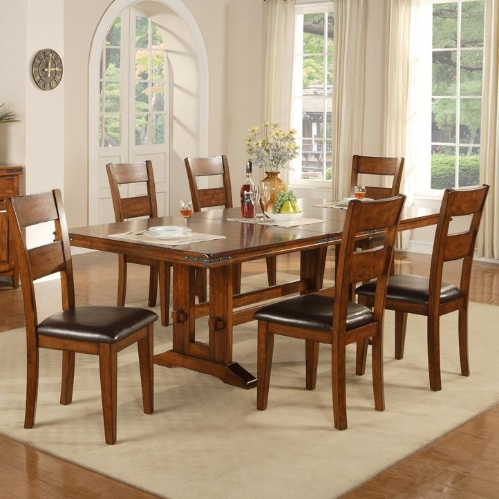 Dining 7 Inside Craftsman 7 Piece Rectangle Extension Dining Sets With Arm & Side Chairs (View 12 of 20)