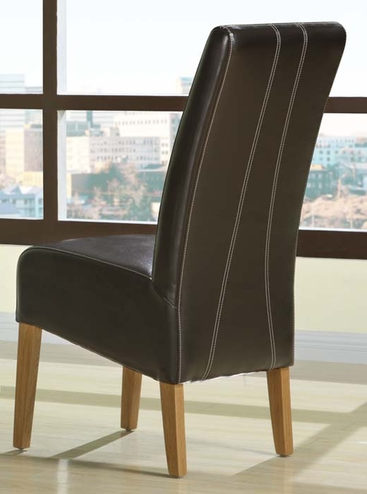 Dining Chairs Design Ideas Pertaining To Most Recent Dark Brown Leather Dining Chairs (View 11 of 20)