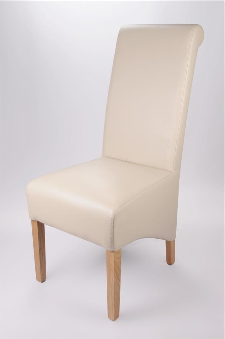 Dining Chairs : Rollback Leather Chair In Matt Ivoryrollback Leather For Most Up To Date Ivory Leather Dining Chairs (View 4 of 20)