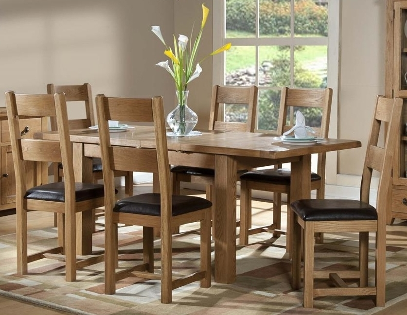 Dining Chairs : Somerset Oak 1200 Extending Table + 6 Chairssomerset Intended For 2018 Oak Dining Set 6 Chairs (Gallery 4 of 20)